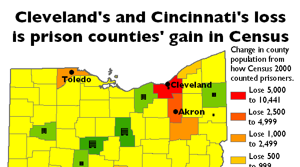 Cleveland And Cincinnati S Loss Is Prison Counties Gain In Prison Policy Initiative