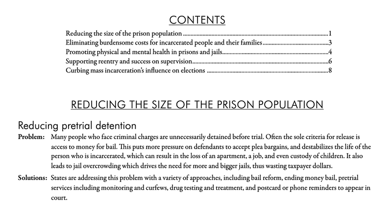 New report: State-level criminal justice reforms that can win in 2020