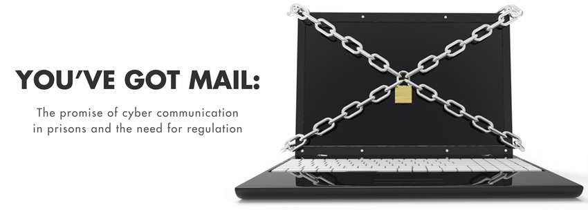 report cover image depicting a laptop with chains across it, forming the shape of an envelope across the screen